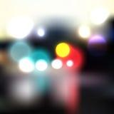 Bunte Stadtleuchten Stockfoto