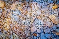 Bunte Steine Alte Backsteinmauer Abstrakter Effekt lizenzfreies stockbild
