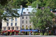 Steinhäuser in Basse-Ville, Québec-Stadt Lizenzfreies Stockbild