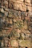 Bunte Steinwand Stockfoto