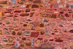 Bunte Steinwand des roten Forts Lizenzfreies Stockbild