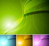 Bunte stilvolle Hintergründe Lizenzfreie Stockbilder