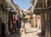 Bunte Straße in altem Jerusalem Stockbilder