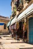 Bunte Straße in altem Jerusalem Lizenzfreies Stockfoto