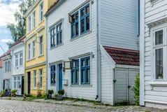 Bunte Straßen in der Mitte von Bergen in Norwegen - 15 Stockbild