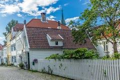 Bunte Straßen in der Mitte von Bergen in Norwegen - 12 Lizenzfreie Stockfotografie