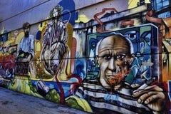 Bunte Straßen-Graffiti Stockfotos