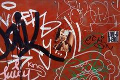 Bunte Straßen-Graffiti Stockbild