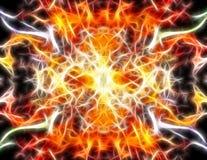 Bunte Strahlen der Leuchte elektrischen Wellen O ähnelnd Lizenzfreie Stockbilder