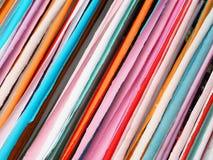 Bunte Streifen gemacht vom Papier Lizenzfreies Stockbild