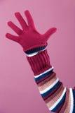 Bunte Strickjacke und Handschuh Stockfotografie