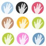 Bunte strukturierte Hände Stockfotos