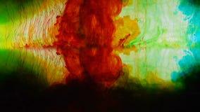 Bunte Substanzmischung, Virusausbruchkonzept, abstrakter Hintergrund stock video