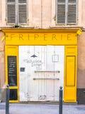 Bunte Tür in Marseille, Frankreich Lizenzfreie Stockbilder