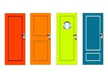 Bunte Türen lizenzfreie abbildung