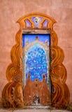 Bunte Türen von Santa Fe, Nanometer Lizenzfreie Stockfotos