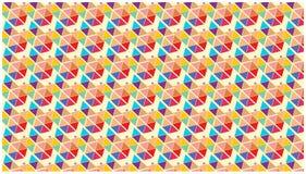 Bunte Tapete spielt die geometrischen Dreieckformen die Hauptrolle Lizenzfreies Stockbild