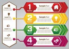 Bunte Textbox des Hexagons Stockbilder