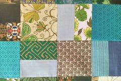 Bunte thailändische Seide handcraft peruanischen Artwolldecken-Oberflächenabschluß herauf mehr dieses Motiv u. mehr Textilperuani Lizenzfreie Stockfotos
