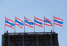 Bunte thailändische Staatsflaggen Lizenzfreie Stockbilder