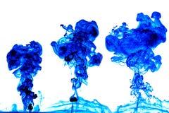 Bunte Tinte im Wasser Lizenzfreies Stockbild