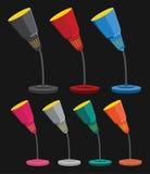 Bunte Tischplattenlampen Stockfotografie