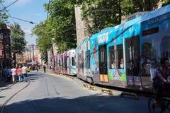 Bunte Tram Stockbilder