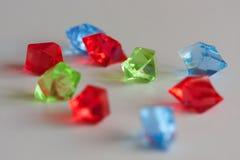 Bunte transparente chrystals Lizenzfreies Stockfoto