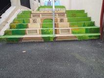 Bunte Treppen Stockfoto