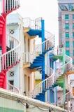 Bunte Treppenhäuser Lizenzfreies Stockbild