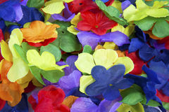 Bunte Tuch-Blumen Lizenzfreie Stockbilder