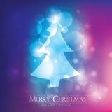 Bunte undeutliche Weihnachtskarte lizenzfreie abbildung