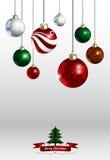 bunte unterschiedliche Artfarbe des Weihnachtsverzierungshintergrundes VE Stockfoto