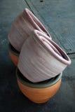 Bunte Vasen stockbild