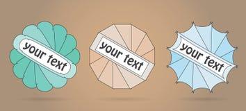 Bunte Vektoraufkleber für Ihren Text lizenzfreie abbildung