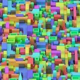 Bunte verschiedene geometrische Formen Lizenzfreie Stockfotos