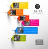 Bunte vertikale Zeitachse des Vektors infographic Lizenzfreies Stockbild