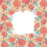 Bunte vibrierende Blumenrahmengrenze Lizenzfreie Stockfotografie