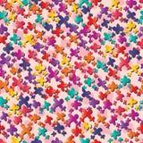 Bunte viele der kleinen Blume nahtloses Muster stock abbildung