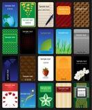 Bunte Visitenkarten eingestellt Stockbilder