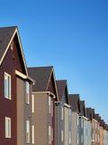 Bunte Vorstadthäuser Lizenzfreies Stockfoto