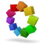 Bunte Würfel 3D Lizenzfreies Stockbild