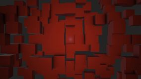 Bunte Würfel-bewegliche nahtlose Schleife Nahtloser schlingender abstrakter Würfelhintergrund Beweglicher Hintergrund der geometr stock video