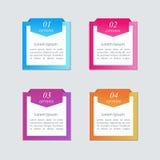 Bunte Würfel mit Pfeilen und Platz für Ihren Text Stockbild