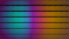 Bunte Würfel-nahtlose Schleife Zusammenfassung berechnet Hintergrund-gelegentlichen Bewegung, Animation 3d Loopable Türkis, Rosa  stock footage