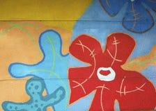 Bunte Wand Stockbild