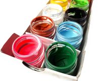 Bunte Wasserfarbe Lizenzfreies Stockfoto