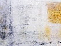 Bunte weiße Kunst im Acryl malte Art auf Segeltuchrahmen weiße, gelbe, schwarze, braune Farbe Lizenzfreie Stockfotos