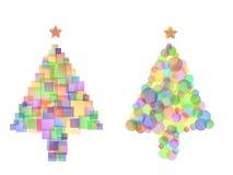 Bunte Weihnachtsbäume Lizenzfreie Stockfotografie