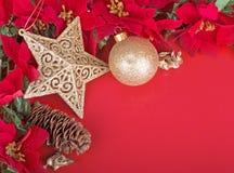 Bunte Weihnachtsgrenze Stockbild